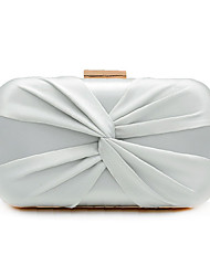 cheap -Women's Bags Polyester Alloy Evening Bag Bow(s) Solid Color Handbags Wedding Event / Party Black Blushing Pink Champagne Silver