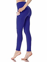 cheap -yoga pants for women with pocket - high waist tummy control yoga leggings for workout cycling athletic runnig (royal blue,small)