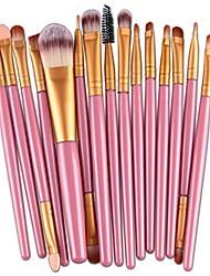 cheap -15pcs makeup brush set,lavany make up brushes set foundation powder eyeshadow eyeliner cosmetics tools for women girls