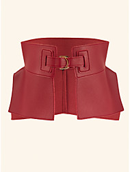 cheap -Women's Waist Belt Other Leather Type Belt Solid Colored