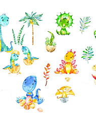 cheap -New Cartoon Stickers Dinosaur Self Adhesive Wall Stickers Creative Children's Room Wall Decoration