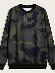 cheap -Men's Hunting T-shirt Tee shirt Outdoor Ventilation Quick Dry Breathable Soft Fall Spring Summer Camo Top Cotton Long Sleeve Camping / Hiking Hunting Fishing Green