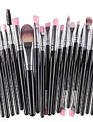 cheap -20pcs/set makeup brush set tools make-up toiletry kit wool make up brush set (black)
