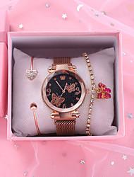 cheap -Women's Quartz Watches Quartz Antique Chronograph Analog Rose Gold Black / Imitation Diamond