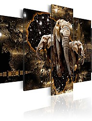"""cheap -canvas wall art print africa 88.58""""x44.3"""" 5 pcs home decor framed stretched picture photo painting artwork image g-a-0011-b-o"""