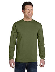 cheap -5.5 oz., 100% organic cotton classic long-sleeve t-shirt (ec1500)- olive,xx-large