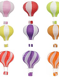 cheap -9pcs Wedding Birthday Decor Hot Air Balloon Paper Lantern Christmas Festival Bar Decor Craft DIY Hanging Air Balloon Lantern Random Color