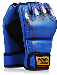 cheap -Boxing Bag Gloves Pro Boxing Gloves Boxing Training Gloves For Mixed Martial Arts (MMA) Fingerless Gloves Protective Sponge Unisex - Black Red Blue