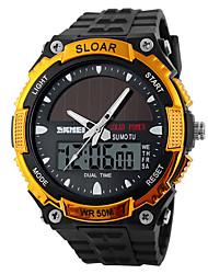 cheap -men's solar powered casual quartz wrist watch analog digital multifunctional black sports watch litbwat