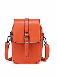 cheap -women vintage crossbody phone bag, small messenger shoulder bag cash handbag wallet purse (orange)
