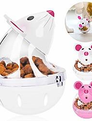 cheap -cat slow feeder cat food ball mice water droplet bone tumbler shaped pet treat ball cat food toy ball pet food ball (white)