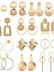 cheap -drop dangle earring, fashion big geometric earrings for women & gold stud hoops earrings for girls, hanging earring set jewelry gifts