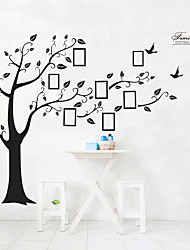 cheap -Big Family Tree Wall Stickers Self Adhesive Home Decor Removable Black Photo Frame Tree PVC Wall Art Mural Stickers Decal 4pcs