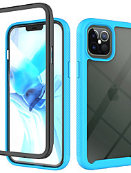 cheap -Phone Case For Apple Back Cover iPhone 12 Pro Max 11 SE 2020 X XR XS Max 8 7 Shockproof Transparent Transparent Solid Color TPU Acrylic PC