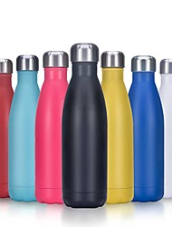cheap -500ML Thermos Vacuum Flask Stainless Steel Water Bottle Thermos Insulated Hydr Flask Water Bottle Letter