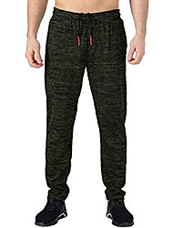cheap -men's athletic jogger dry fit workout running pants with zipper pockets for home gym green x-large