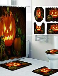 cheap -Halloween Pumpkin Pyscho Pattern PrintingBathroom Shower Curtain Leisure Toilet Four-Piece Design