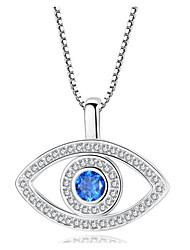 cheap -Women's Synthetic Diamond Pendant Necklace Classic Eyes Simple Trendy Fashion Alloy Rose Gold Silver 47 cm Necklace Jewelry 1pc For Anniversary Gift Engagement Street Birthday Party