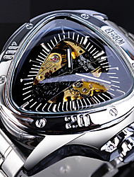 cheap -WINNER Men's Mechanical Watch Automatic self-winding Vintage Style Casual Hollow Engraving Analog Black / Two Years / Stainless Steel / Two Years