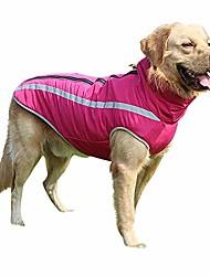 cheap -reflective waterproof pet coat zipper jacket winter warm dog coat for small medium large dog hot pink