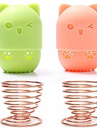 cheap -beauty sponge blender container/2 beauty sponge travel case and 2 makeup sponge drying holder/cute cat silicone makeup sponge travel carrying case/beauty sponge holder dry rack easy to carry