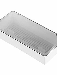 cheap -flatware tray kitchen drawer organizer with lid and drainer - plastic kitchen cutlery tray and utensil storage container with cover - dinnerware holder white