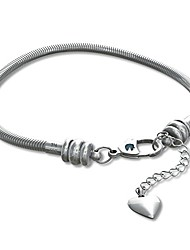 cheap -european charm bracelet for women and girls bead charms, stainless steel snake chain, claw 7.7 inch