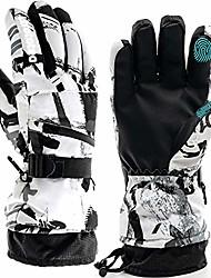 cheap -ski gloves, snow winter gloves warm touchscreen gloves waterproof outdoor motorcycle gloves (medium)