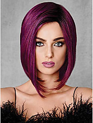 cheap -fchw short ombre hair wigs for black women synthetic black wine red wig mixed color wig purple bob short wigs for black women african american women wigs (fchw-xupu-x755)