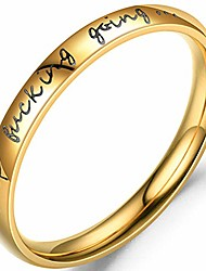 cheap -stainless steel stackable keep fucking going inspirational graduation ring (gold, 13)