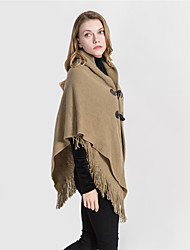 cheap -Women's Tassel Rectangle Scarf - Solid Colored Washable