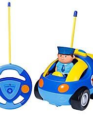 billige -rc tegneserie billegetøj med lys musik radio til småbørn baby børn, blå