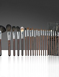 cheap -22 Pcs Professional Cosmetics Brushes Set Wooden Handle Makeup Brushes For face Foundation Powder Eye Shadow Contour