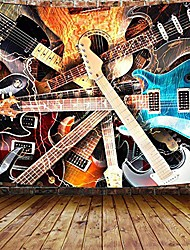 """cheap -music tapestry, guitar musical tapestry wall hanging for bedroom, instrument rock style lover tapestry home decor & #40;60"""" w x 40"""" h& #41;"""