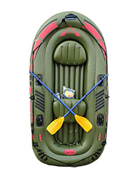 cheap -JiLong 3-4 Persons Inflatable Boat Set with Hand Air Pump Air Pad French Oars PVC Portable Folding Fishing Boating 240*137*40 cm