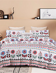 cheap -Bohemia Style Colorful Floral Print Botanical 3 Pieces Bedding Set Duvet Cover Set Modern Comforter Cover-3 Pieces-Ultra Soft Hypoallergenic Microfiber Include 1 Duvet Cover and 1 or2 Pillowcases