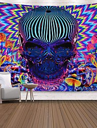 cheap -Wall Tapestry Art Decor Blanket Curtain Picnic Tablecloth Hanging Home Bedroom Living Room Dorm Decoration Polyester Print Colorful Skull Abstract
