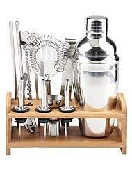 cheap -Insulated Cocktail Shaker Mixer Bartender Kit Cocktail Shaker Mixer Stainless Steel 550ml Bar Tool Set with Stylish Bamboo Stand Perfect Home Bartending Kit and Martini Cocktail Shaker Set