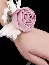 cheap -Wedding Flowers Wrist Corsages Wedding / Party Evening Double Layer Cloth 0-10 cm