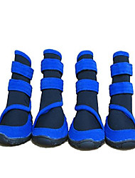 """cheap -waterproof large dog boots pet shoes for large dogs 4 pcs (blue, m (3.3""""x2.5""""))"""