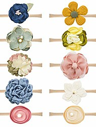 cheap -baby girl headbands and bows nylon hairbands hair bow accessories for newborn infant toddler girls (bows-e-10pcs)