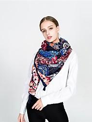 cheap -Women's Tassel Rectangle Scarf - Print