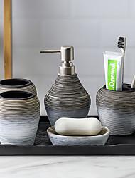 cheap -Bathroom Accessories Set, 5 Piece Ceramic Complete Bathroom Set for Bath Decor, Includes Toothbrush Holder, Soap Dispenser, Soap Dish, 2 Tumblers Holiday Bathroom Decoration Gift Idea