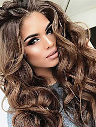 cheap -Synthetic Wig Curly Middle Part Wig Very Long Brown Synthetic Hair Women's Classic Exquisite Fluffy Brown