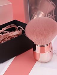 cheap -portable makeup tool single mushroom head blush brush loose powder brush makeup brush set makeup powder brush for beginner