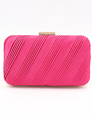 cheap -Women's Bags Polyester Alloy Evening Bag Glitter Solid Color Handbags Wedding Event / Party Black Fuchsia Gold Silver