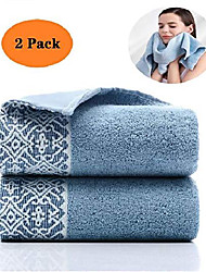 cheap -2 pack cotton hand towels,100% cotton face towels, durable highly absorbent soft washcloth towel for premium luxury spa hotel bathroom, camping, gym (14 x 30 inch) & #40;classical blue& #41;