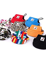 cheap -Dog Cat Ornaments Hats, Caps & Bandanas Dog Bandana & Dog Hat Striped Quotes & Sayings Casual / Daily Dog Clothes Puppy Clothes Dog Outfits Camouflage Color Stripe Leopard Costume for Girl and Boy Dog