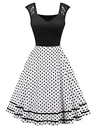 cheap -A-Line Elegant Vintage Party Wear Cocktail Party Dress Sweetheart Neckline Sleeveless Short / Mini Spandex with Pleats 2020
