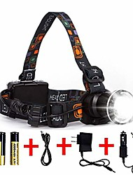 cheap -Emitters with Batteries with USB Cable Camping / Hiking / Caving Fishing Outdoor Headlamp+USB cable (without battery) Headlamp + USB cable + lithium battery